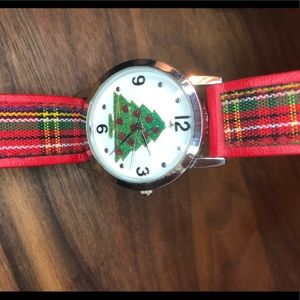 Accessories - Christmas watch with plaid band